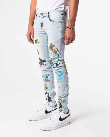 LIGHT WASH PSYCHO DENIM