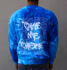 MIAMI NIGHTS BLUE SWIRL CREWNECK
