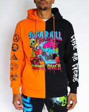 GAME OVER BLACK/ORANGE SPLIT HOODIE