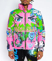 PINK PSYCHO PUFFER JACKET