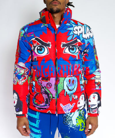 RED PSYCHO PUFFER JACKET