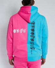 GAME OVER PINK/BLUE SPLIT HOODIE