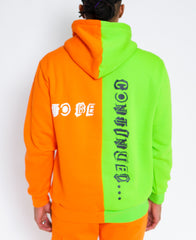 GAME OVER GREEN/ORANGE SPLIT HOODIE