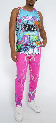 TRIPPY TRACK PANTS (PINK/BLUE)