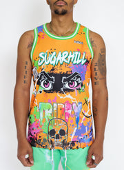 TRIPPY JERSEY (ORANGE/GREEN)