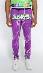 TRIPPY TRACK PANTS (PURPLE/GREEN)