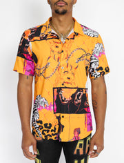 CABANA BUTTON UP (ORANGE)