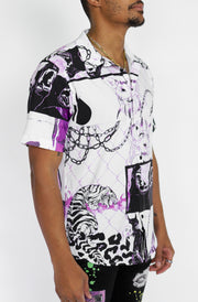 CABANA BUTTON UP (WHITE)