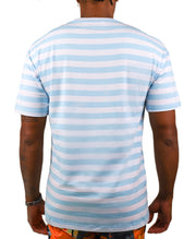 SUNFLOWER STRIPED TEE ( LT. BLUE)