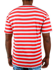 SUNFLOWER STRIPED TEE (RED)