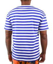 SUNFLOWER STRIPED TEE (ROYAL)