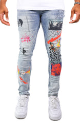 CABANA PRINTED DENIM