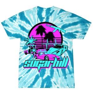 MIAMI NIGHTS AQUA TWIST T-SHIRT
