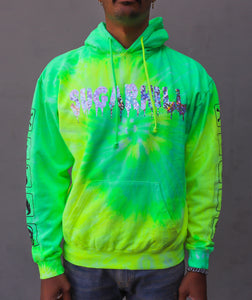 ZOMBIE WOLF HOLOGRAPHIC LEMON HOODIE
