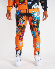 ORANGE PSYCHO SWEAT PANTS