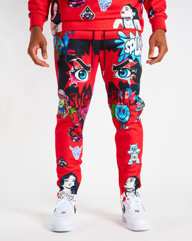 RED PSYCHO SWEAT PANTS