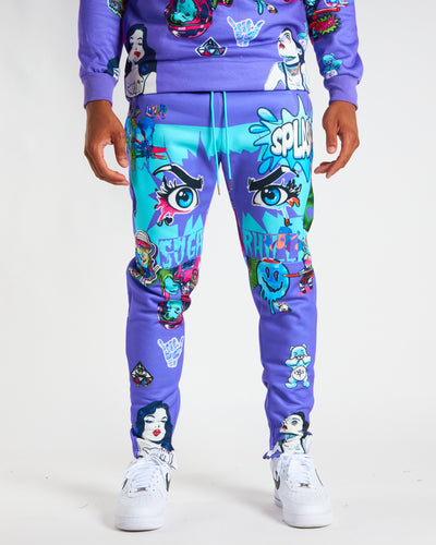 PURPLE PSYCHO SWEAT PANTS