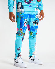 TURQUOISE PSYCHO SWEAT PANTS