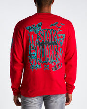 MAD SCIENTIST CREWNECK (RED)