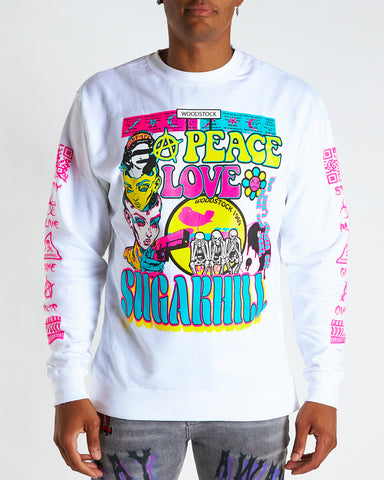 HIPPIE CREWNECK (WHITE)