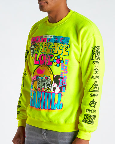 HIPPIE CREWNECK (NEON YELLOW)