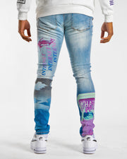 ANXIETY BLUE OMBRE DENIM
