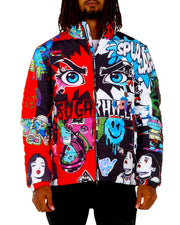 BLOOD CLOT PSYCHO PUFFER JACKET