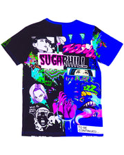 SPLIT ROYAL & BLACK PSYCHO TEE