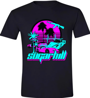 MIAMI NIGHTS T-SHIRT (BLACK)
