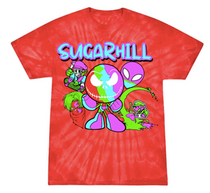 SUGARBOY BLOOD RED BURST T-SHIRT