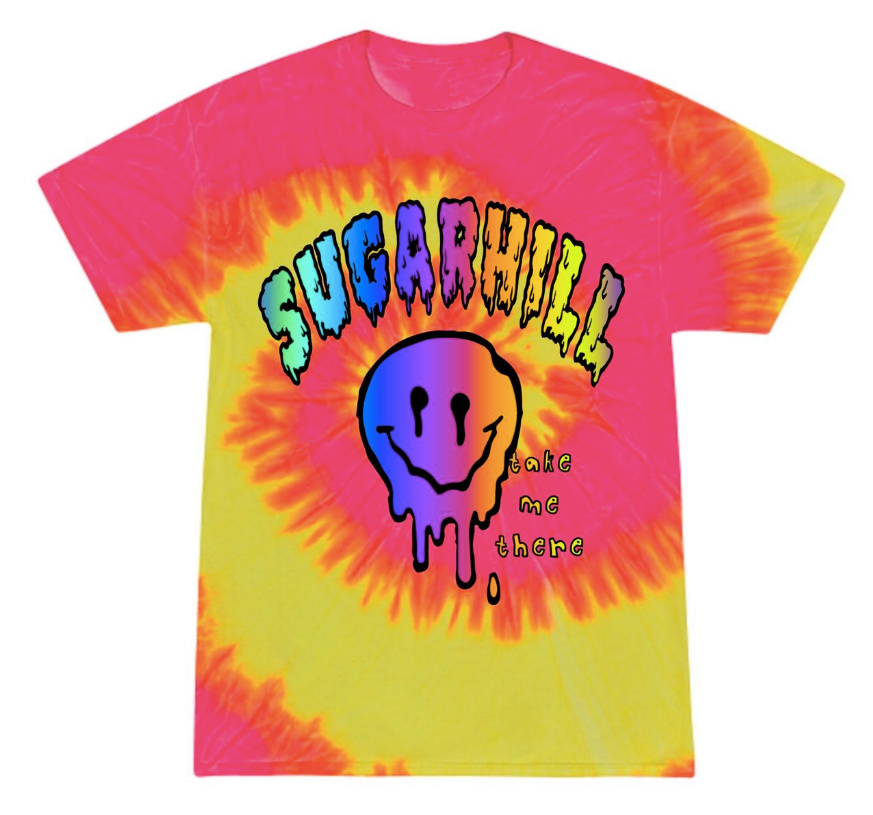 MAPS HOT PINK SWIRL T-SHIRT