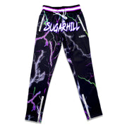 TRIPPY TRACK PANTS (BLACK/PURPLE/GREEN)