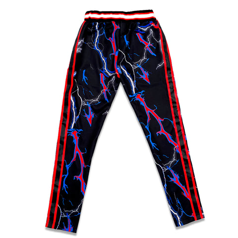 TRIPPY TRACK PANTS (BLACK/RED/BLUE)