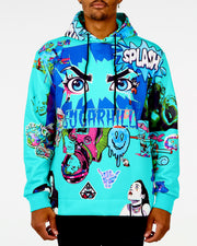 TURQUOISE PSYCHO HOODIE