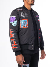 BLACK MUTANT BOMBER JACKET