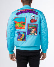 BABY BLUE MUTANT BOMBER JACKET