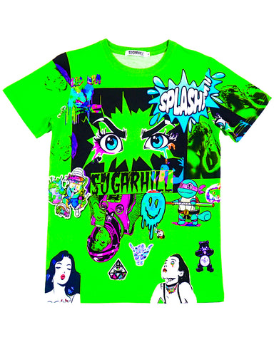 LIME GREEN PSYCHO TEE