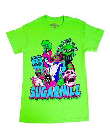 MAD SCIENTIST T-SHIRT (LIME GREEN)