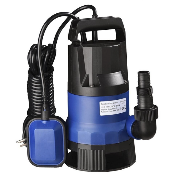 1HP 3432GPH 750W Submersible Water Pump for Swim Pool,Pond,Flood Drain