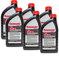 6pk-quart-genuine-oem-kawasaki-4-cycle-engine-oil-k-tech-sae-10w-30-99969-6081