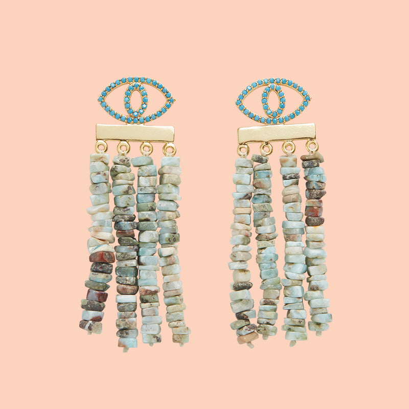 MYKONOS BLU EARRINGS