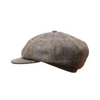Ladies 8 Panel Baker Boy Tweed Hat - Made to Order