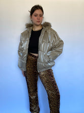 Load image into Gallery viewer, 90s Champagne Sparkly Puffer