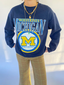 vintage Michigan crew