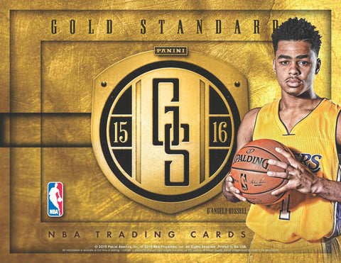2/17 - 10PM EST ~ 1/2 CASE (6 BOX) BREAK ~ 2015/16 PANINI GOLD STANDARD BASKETBALL RANDOM.ORG BREAK ~ EACH SPOT PURCHASED BUYS 1 TEAM