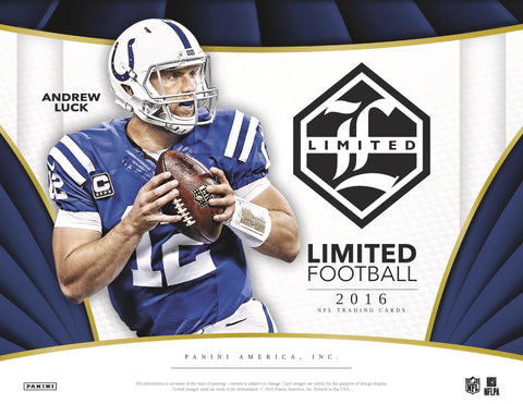 2016 PANINI LIMITED FOOTBALL 15 BOX CASE BREAK LIVE-BOX-BREAKS.COM