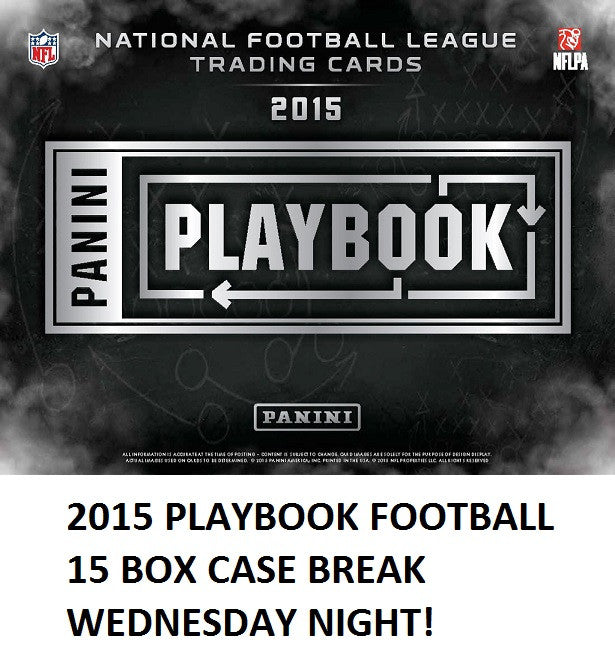 2015 PANINI PLAYBOOK FOOTBALL 15 BOX CASE BREAK