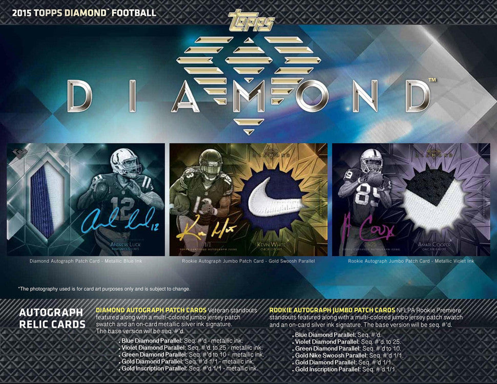 2015 TOPPS DIAMOND FOOTBALL 6 BOX FOOTBALL BREAK