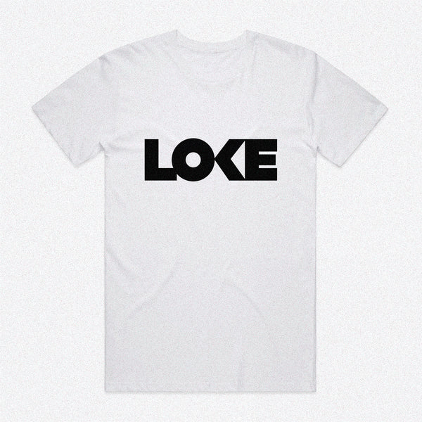 Loke Logo Short-Sleeve White Tee