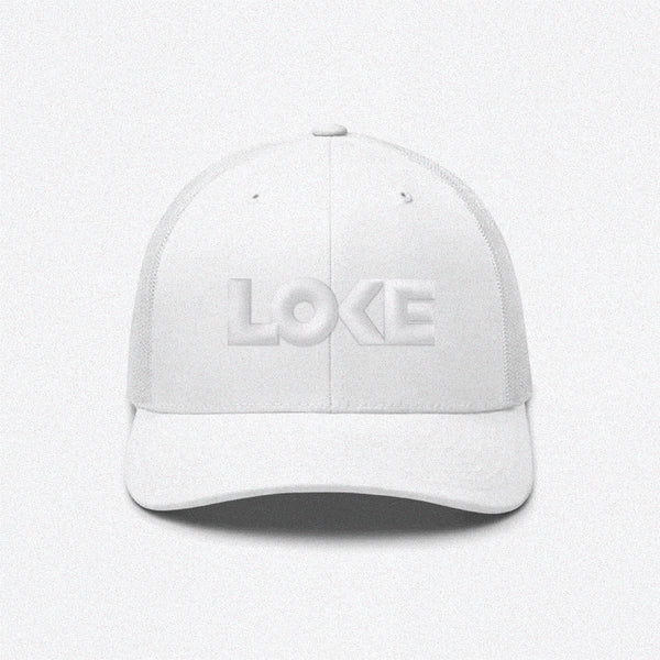 Loke Puff Logo Whiteout Trucker Hat